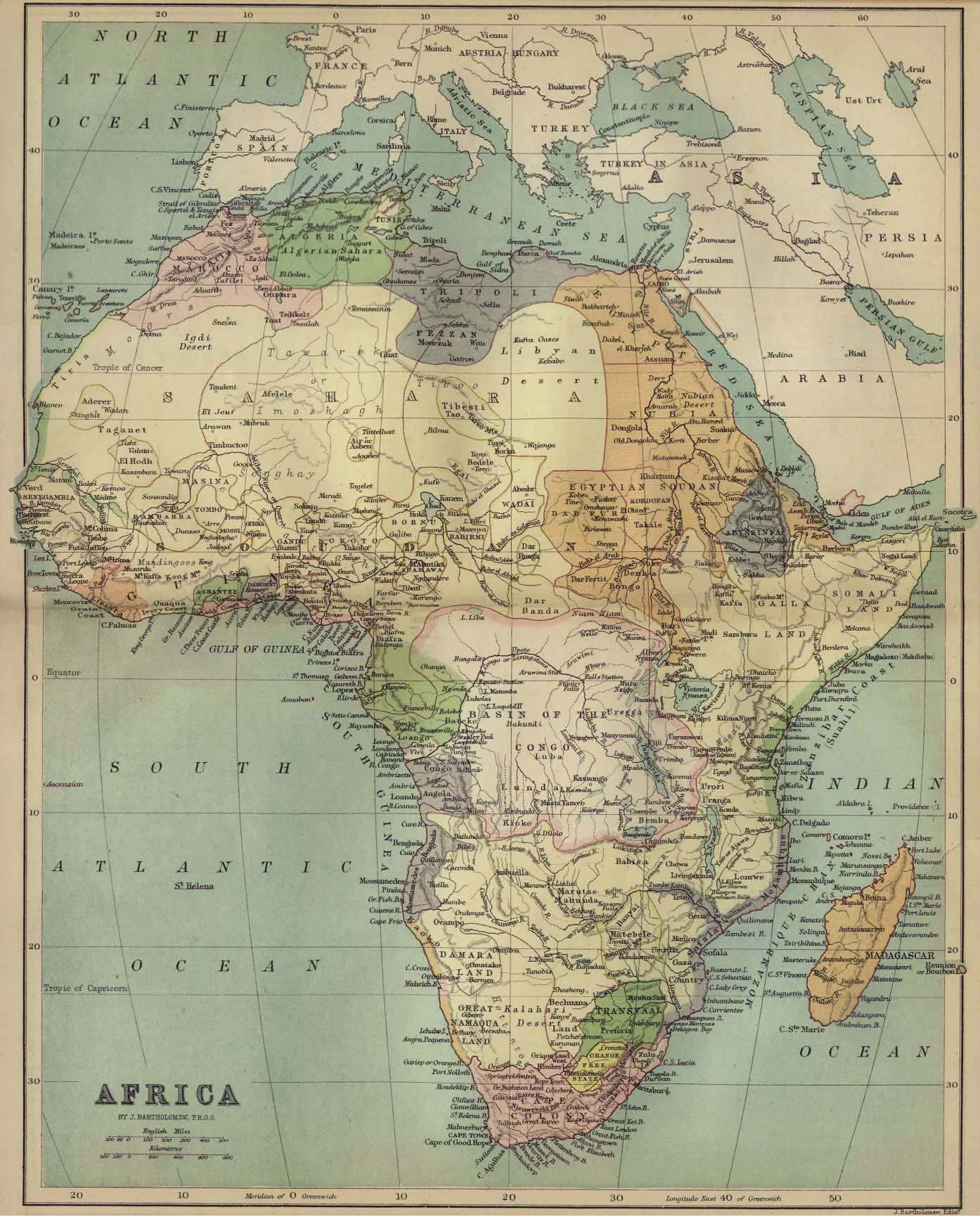Map Of Africa 1850.Whkmla Historical Atlas Africa Page