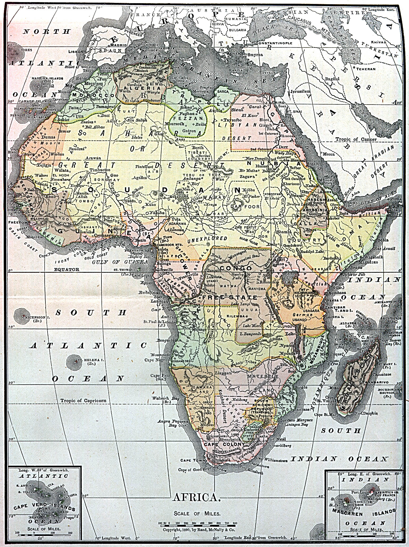 the old africa map