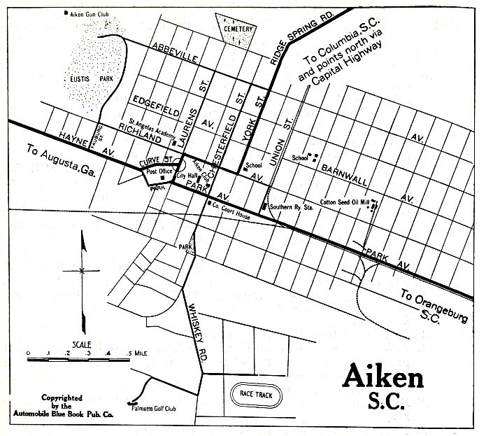 Aiken Map Guide line Maps of Aiken South Carolina