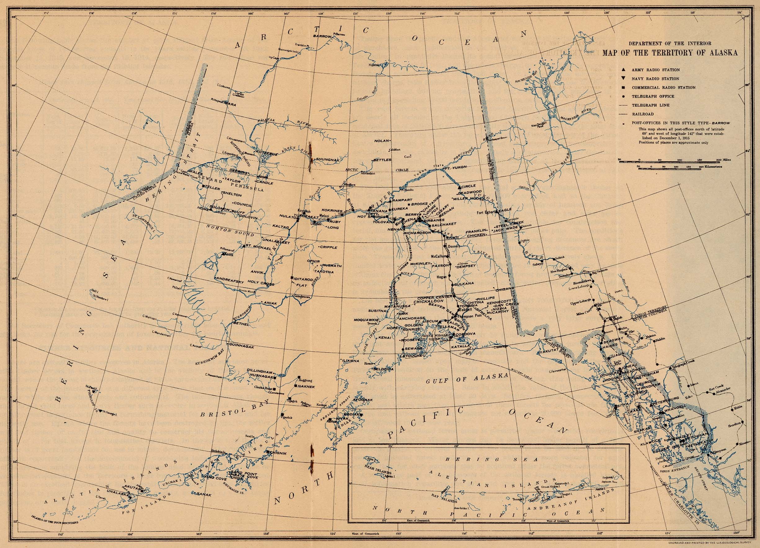 United States Historical Maps PerryCastañeda Map Collection - Map of northwest us and alaska
