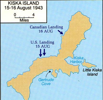 Aleutians Kiska Island 15 16 August 1943