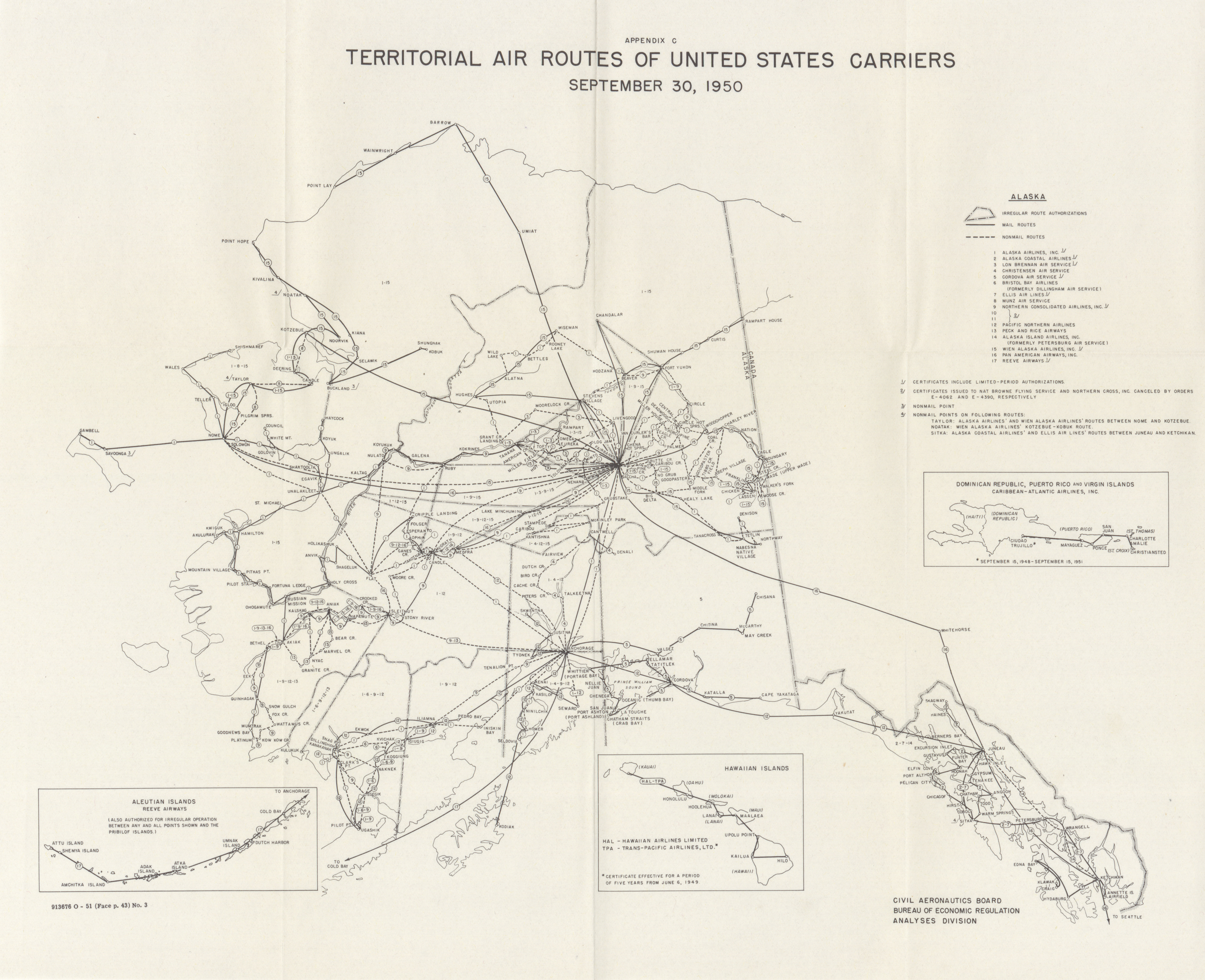 maps from annual report of the civil aeronautics board 1950 united states government printing office washington 1951