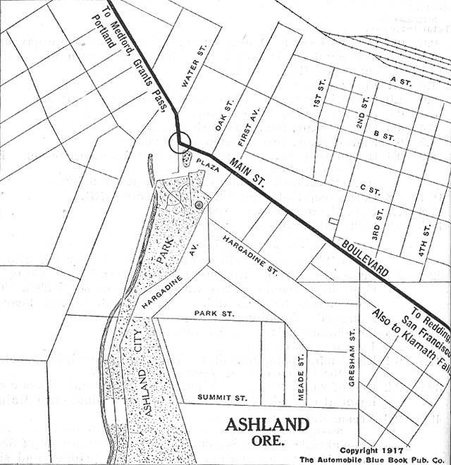 Ashland Oregon Street Map United States Historical City Maps   Perry Castañeda Map