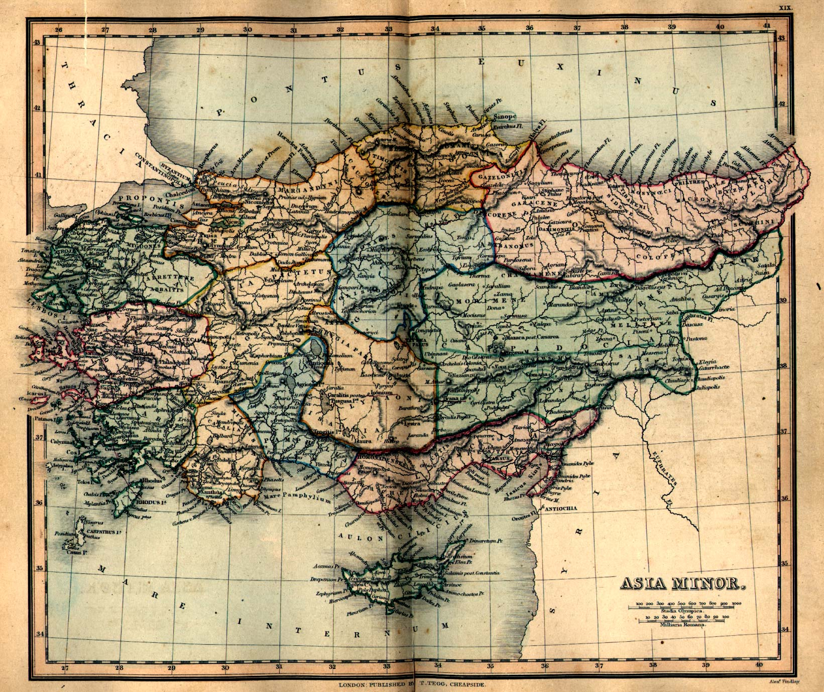 Ancient Greece Asia Minor Map