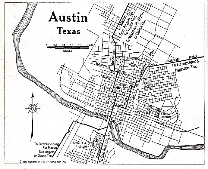 Austin Texas City Map