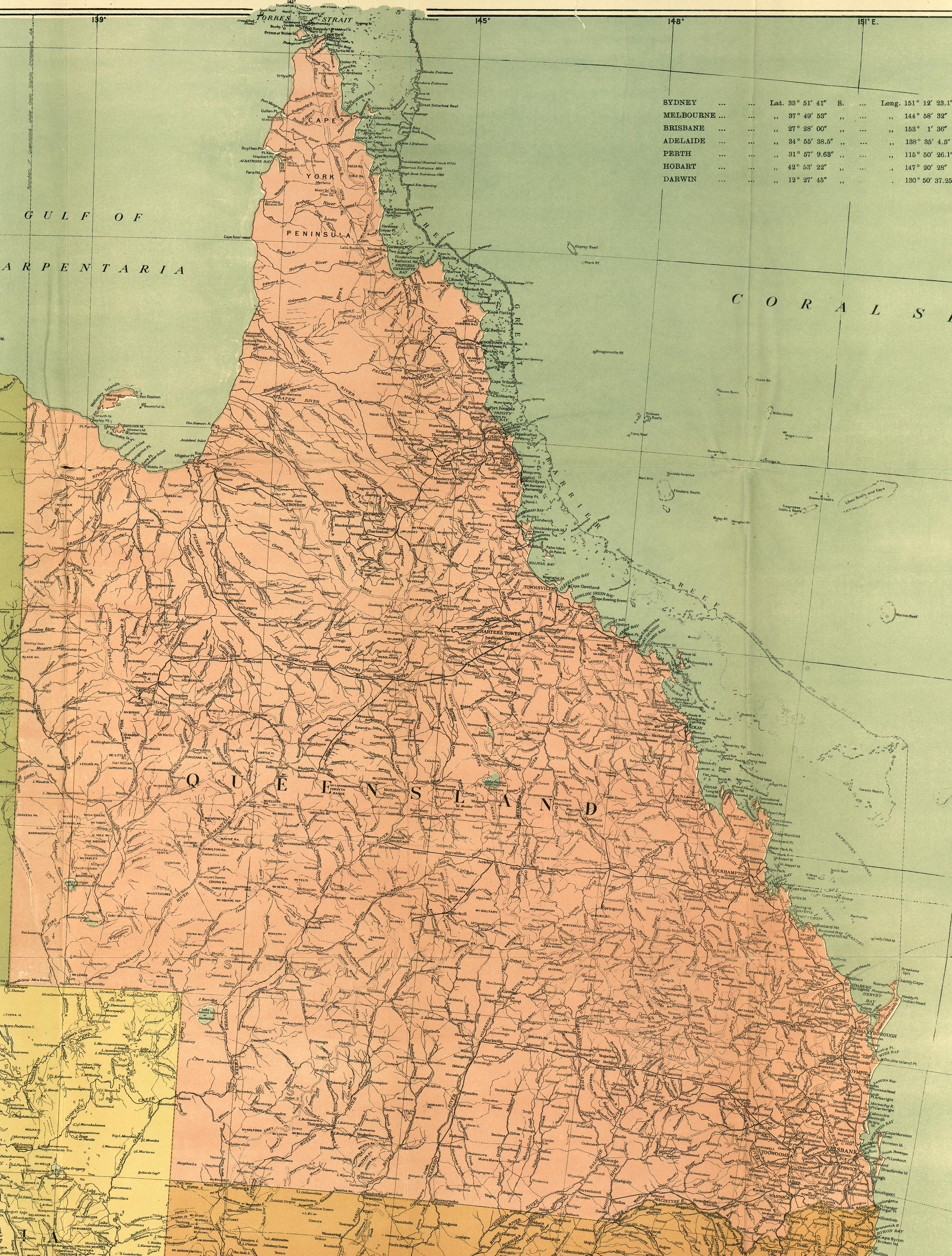 Australia and the Pacific Historical Maps - Perry-Castañeda Map ...