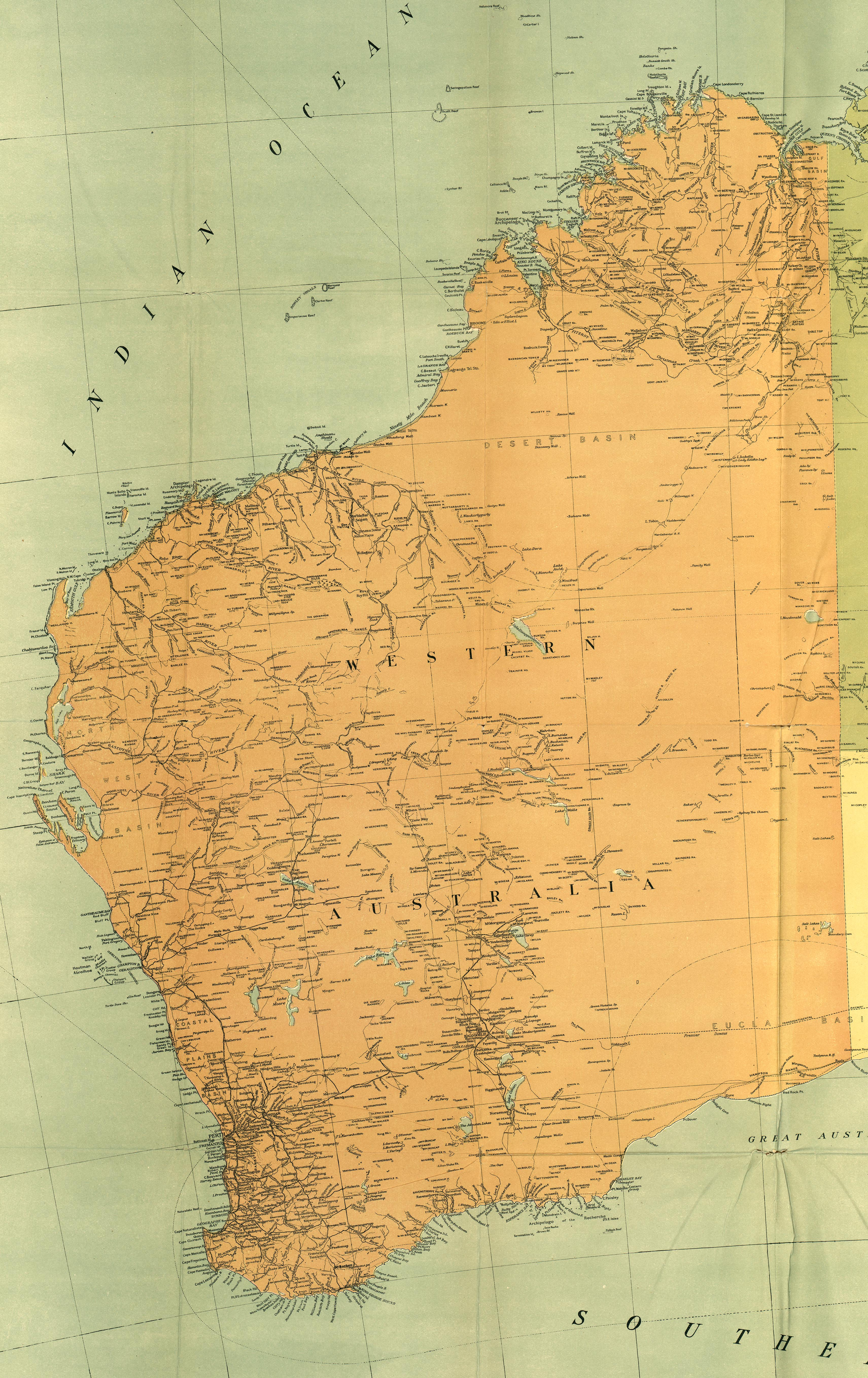 Australia and the Pacific Historical Maps PerryCasta eda Map – Australia Road Map Pdf