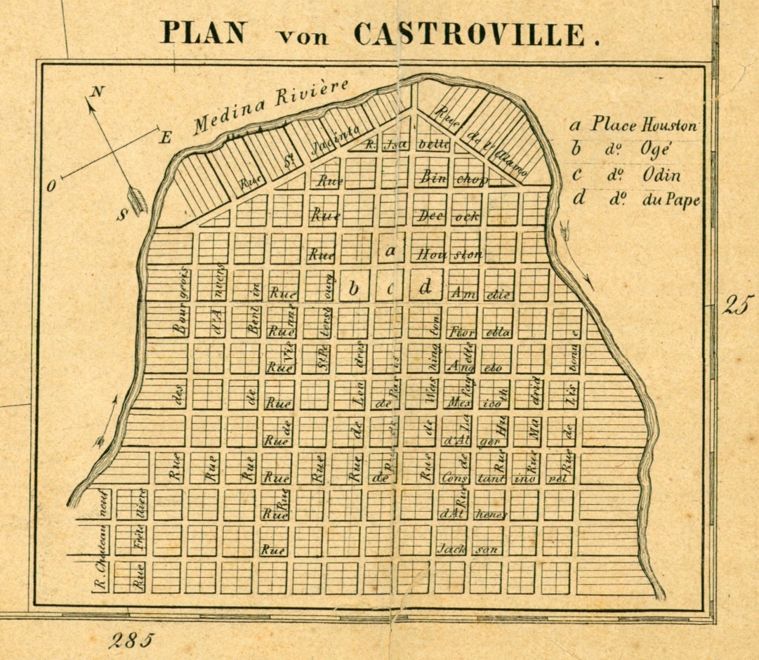 Castroville 1849 Inset Map