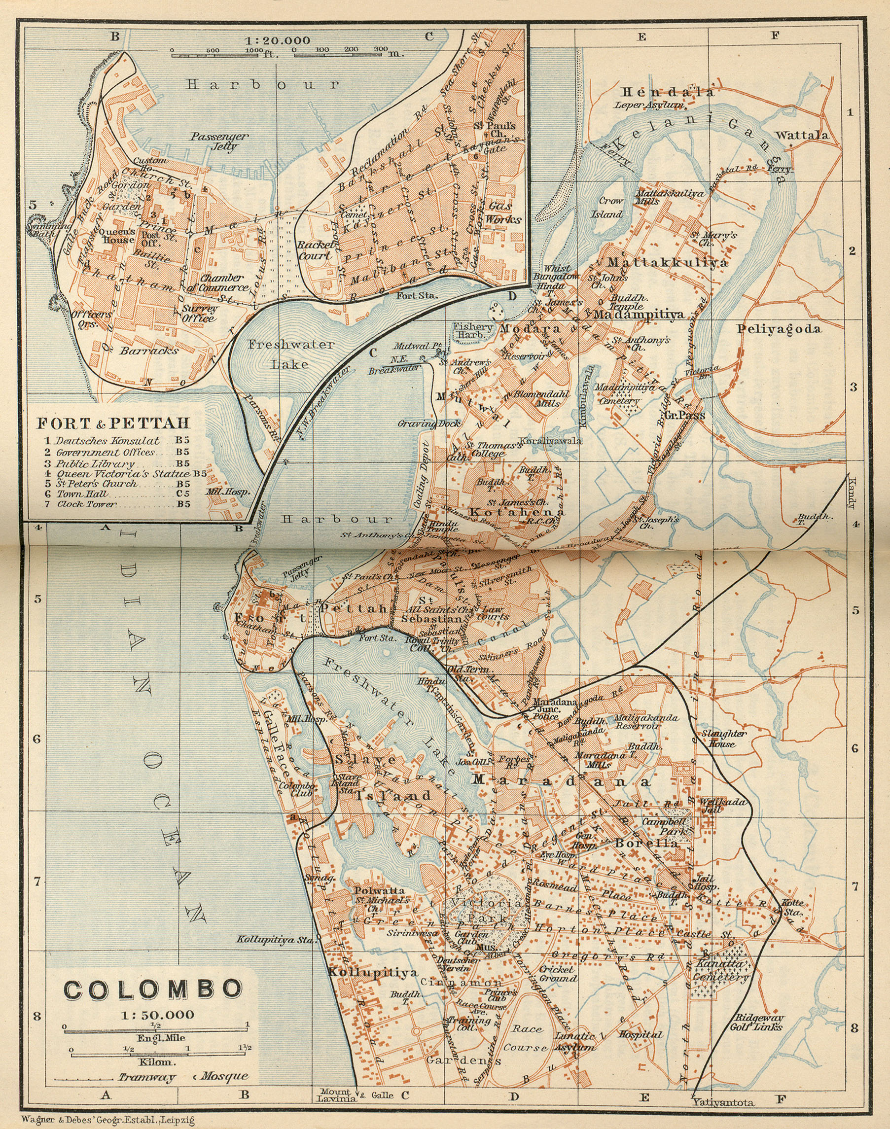 Baedeker Indien 1914 Maps PerryCastaeda Map Collection UT