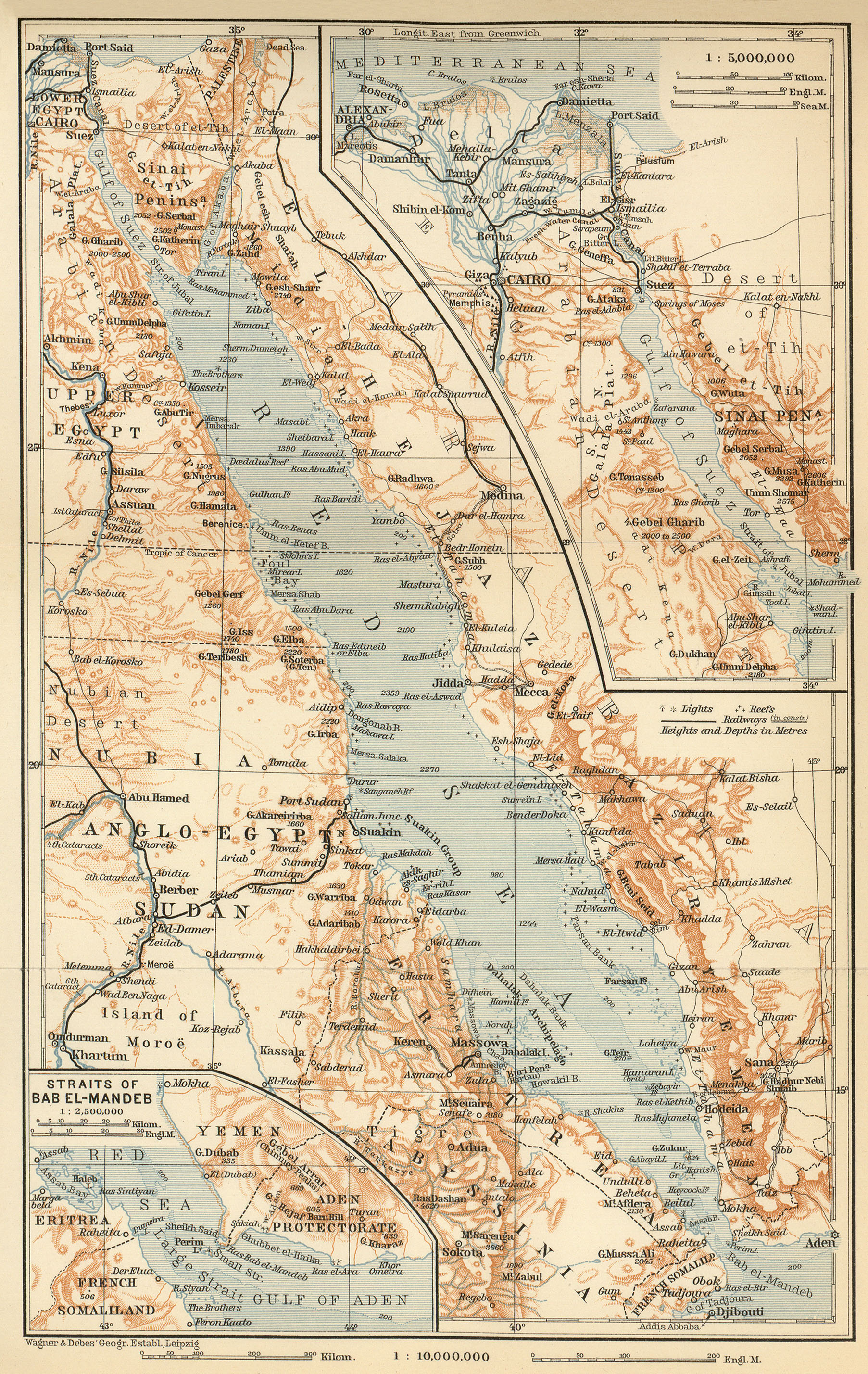 Historical Maps Of The Islamic World - Map of egypt 1920