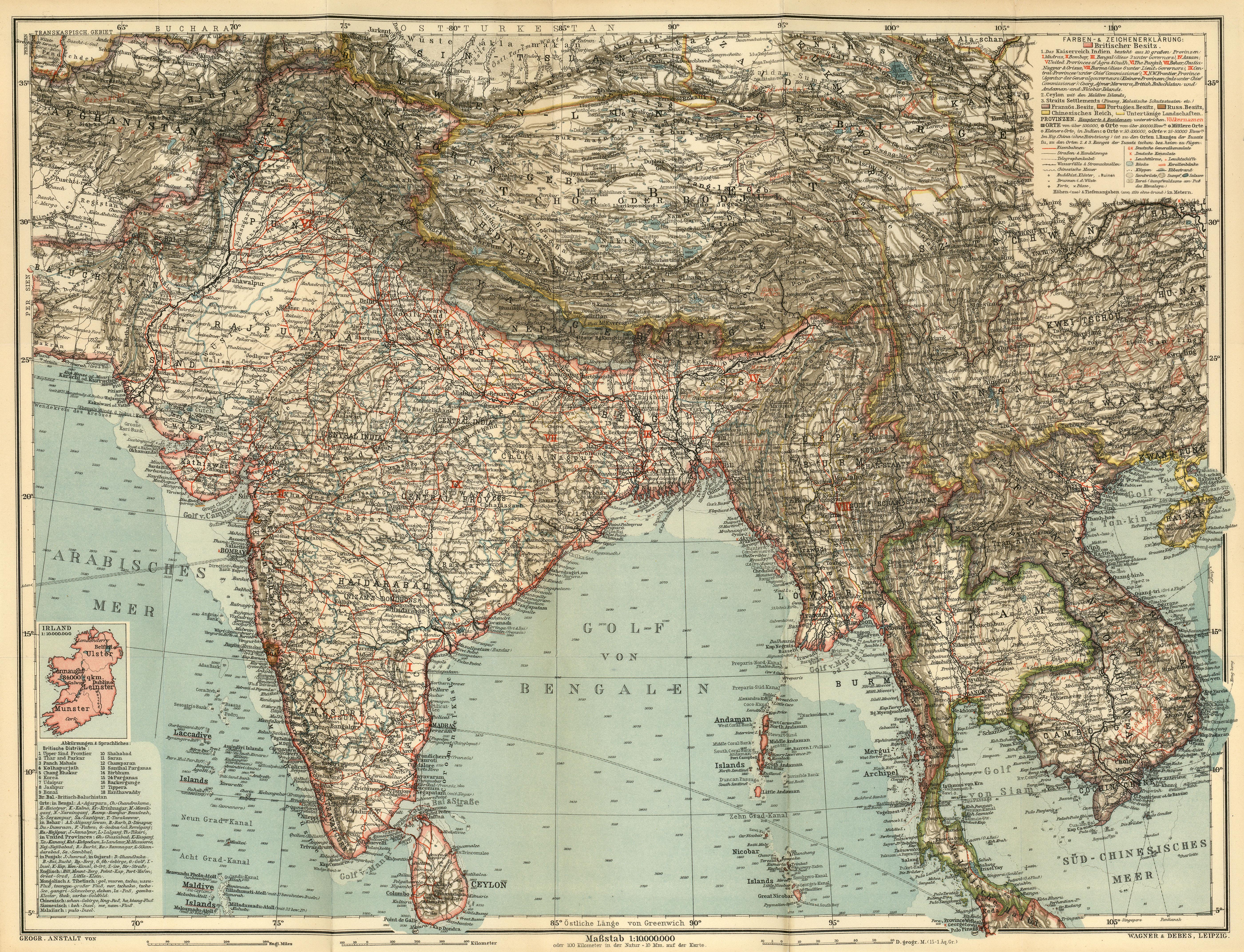 Maps from Baedekeru0027s Indien Handbuch Fr Reisende