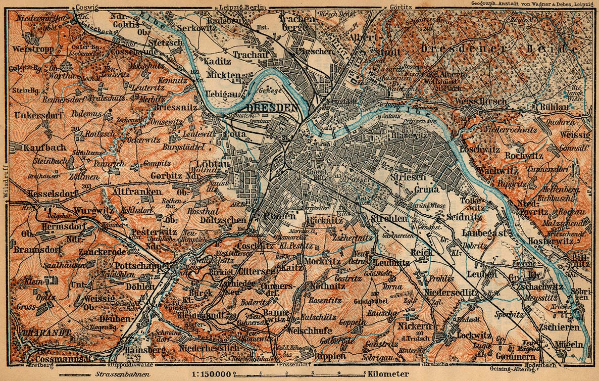 Map Of Germany Showing Dresden.Baedeker S Northern Germany Perry Castaneda Map Collection Ut
