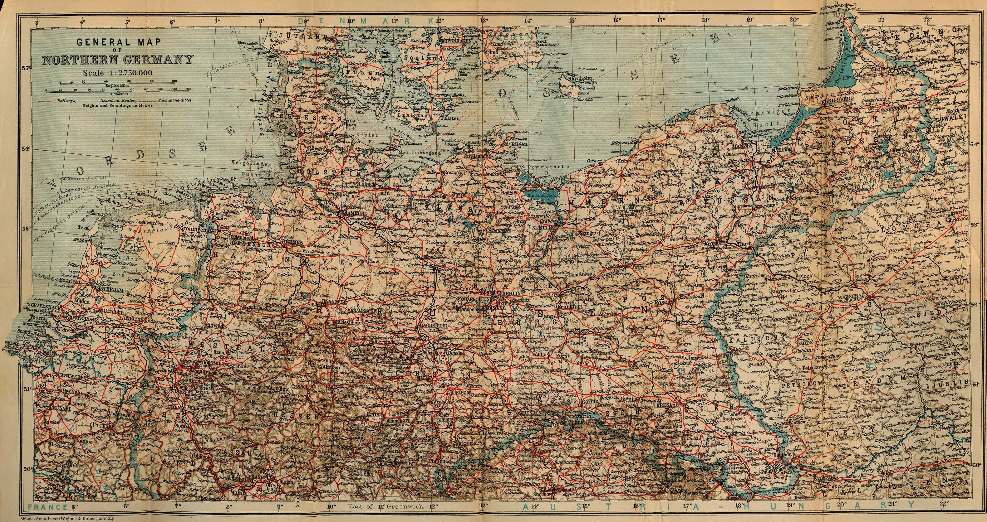 maps northern germany