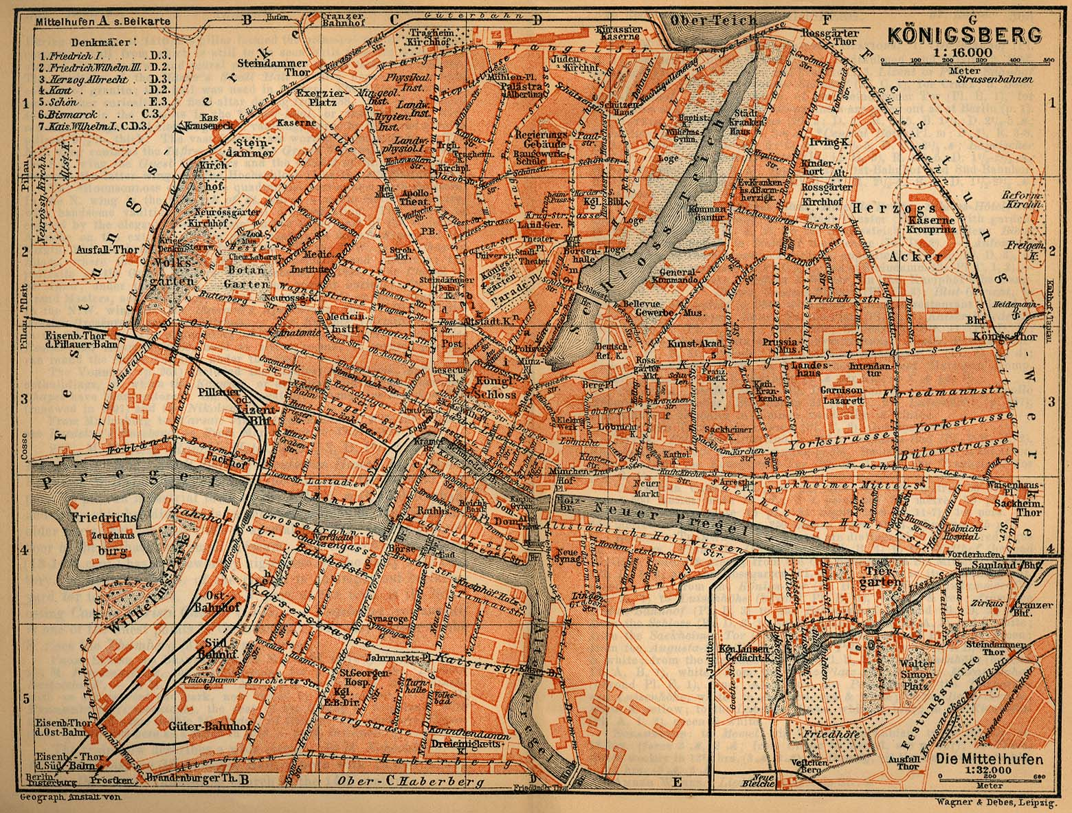 Baedekers Northern Germany PerryCastañeda Map Collection UT - Germany map 1900
