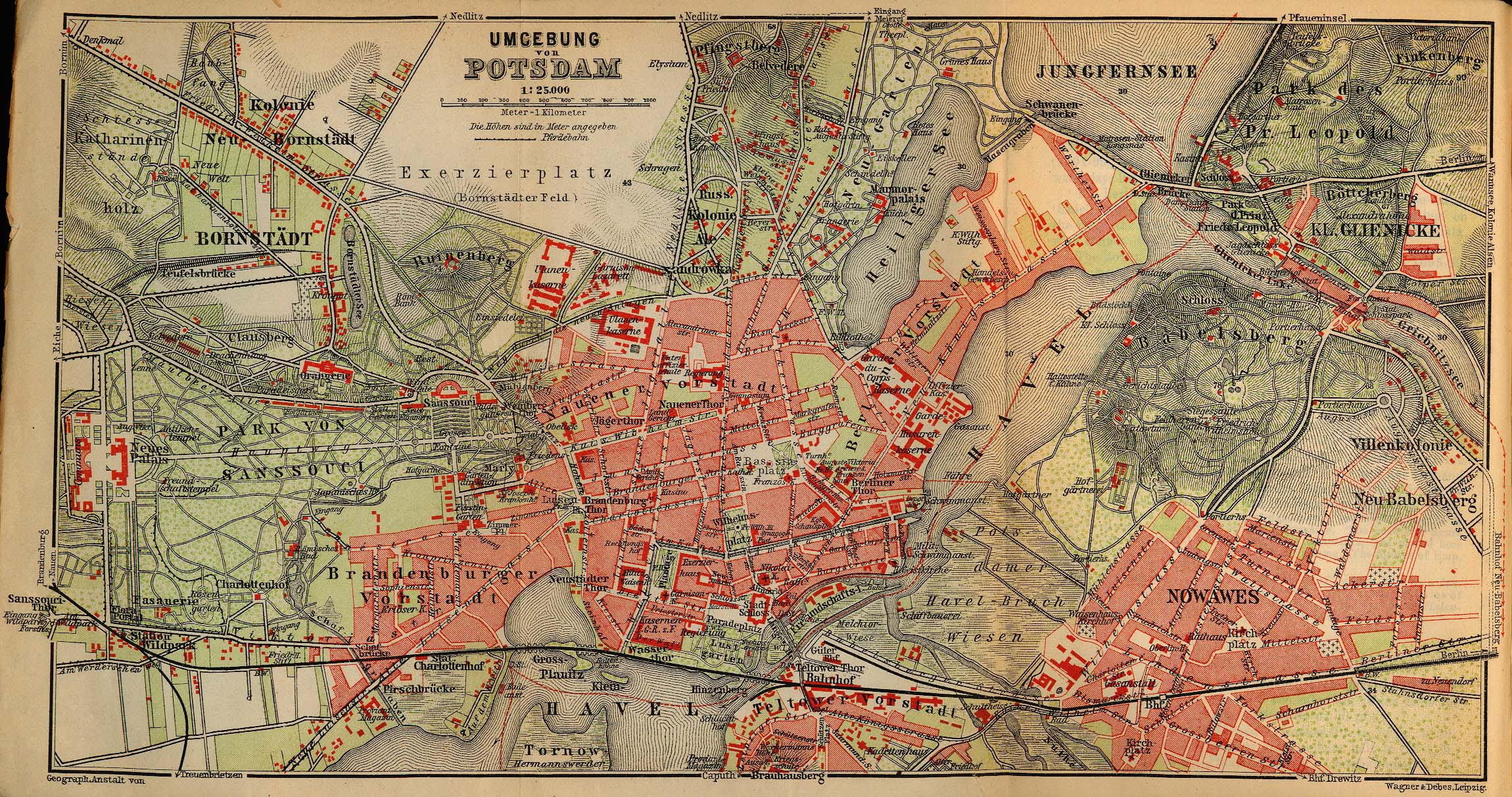 maps and plans from baedekers northern germany 1910