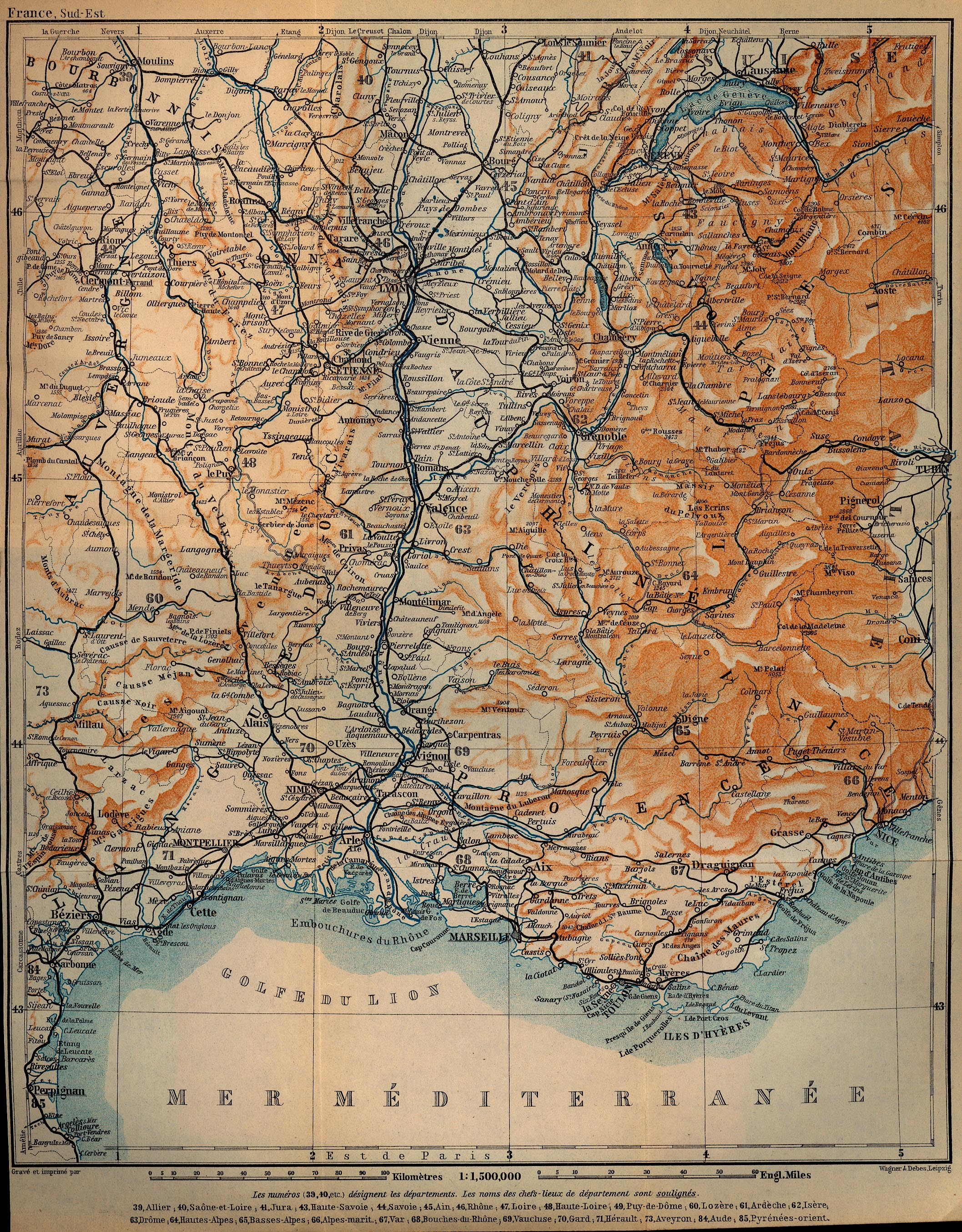 Baedeker S Southern France 1914 Perry Castaneda Map Collection