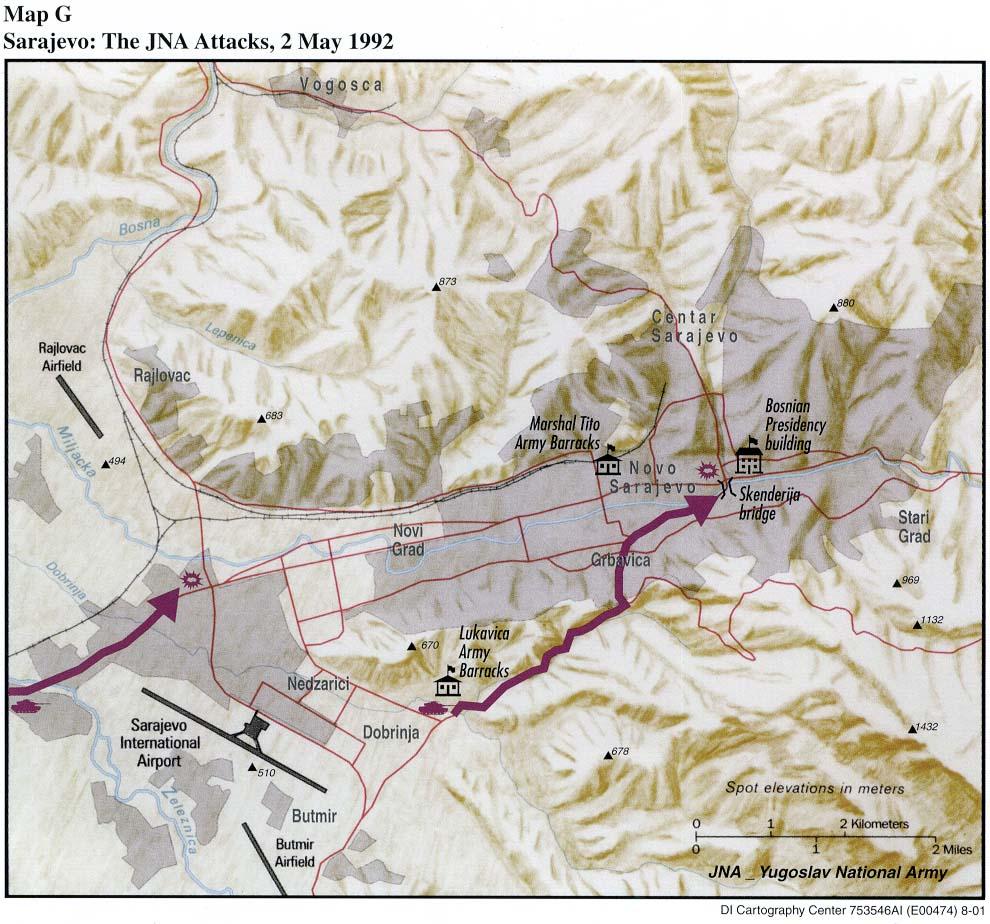 Sarajevo The Jna Attacks