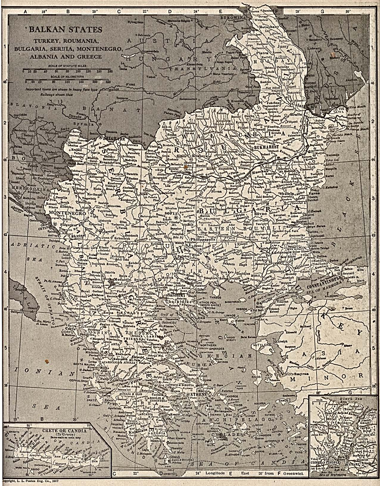 The Balkans Historical Maps  PerryCastaeda Map Collection  UT