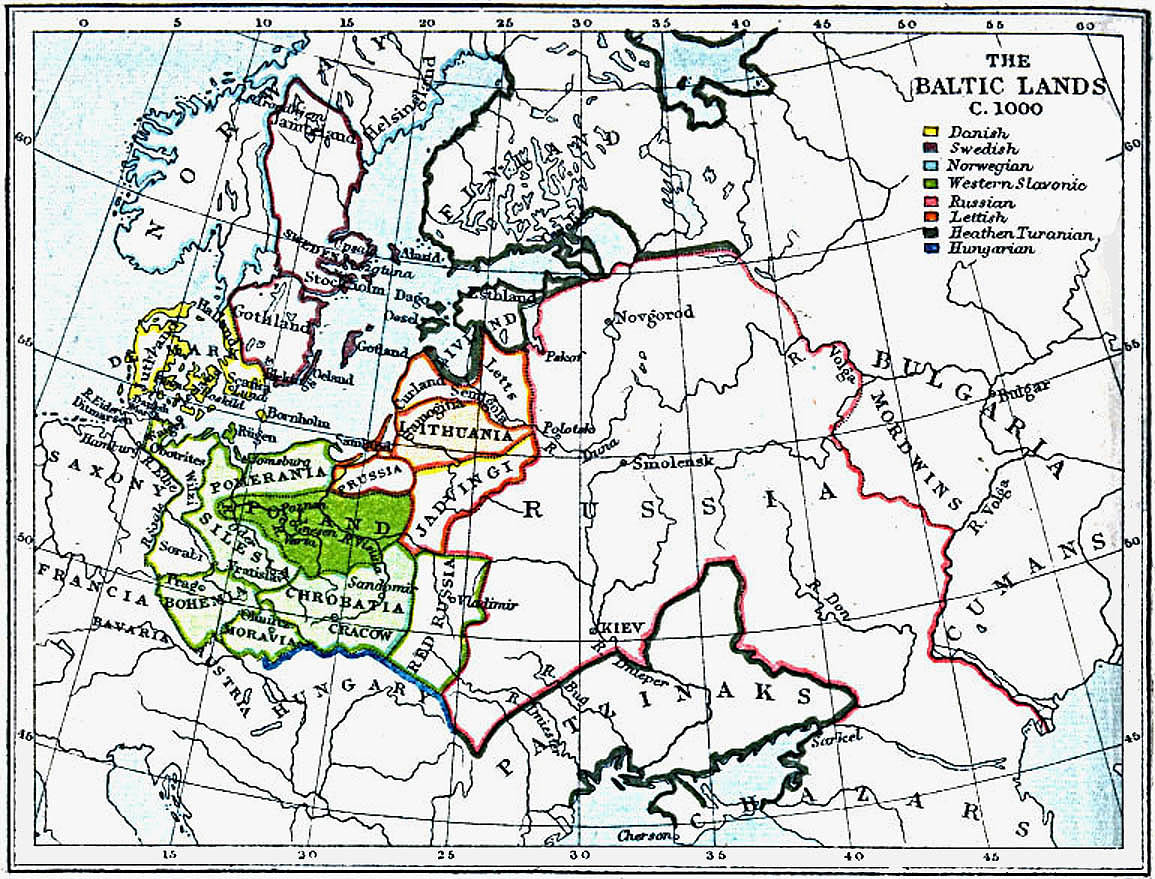 Map Of Europe In 1000.Maps Of The Baltic Lands 1000 A D 1809 A D Perry Castaneda Map