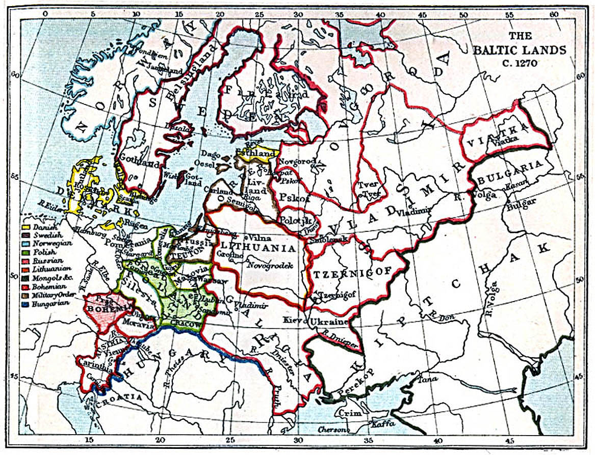 Maps of the Baltic Lands 1000 AD  1809 AD  PerryCastaeda