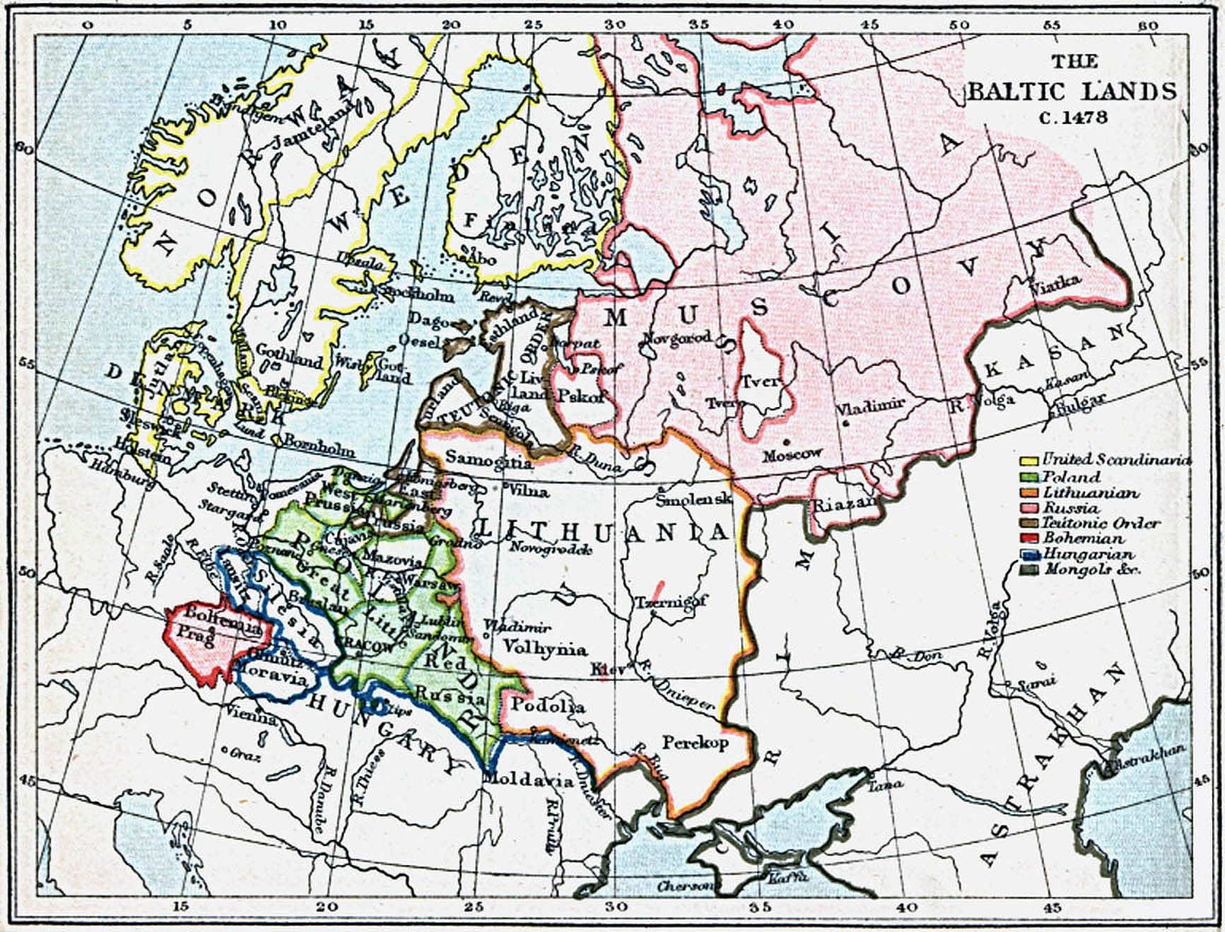 Maps Of The Baltic Lands 1000 A D 1809 A D Perry Castaneda Map