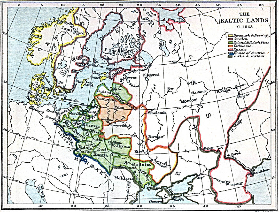 Historical Outline Map 60.Maps Of The Baltic Lands 1000 A D 1809 A D Perry