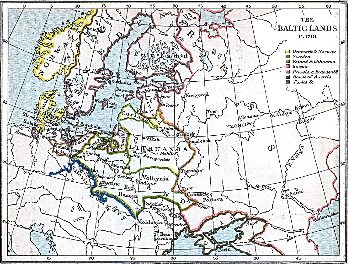 Baltic Europe Map.Maps Of The Baltic Lands 1000 A D 1809 A D Perry Castaneda Map