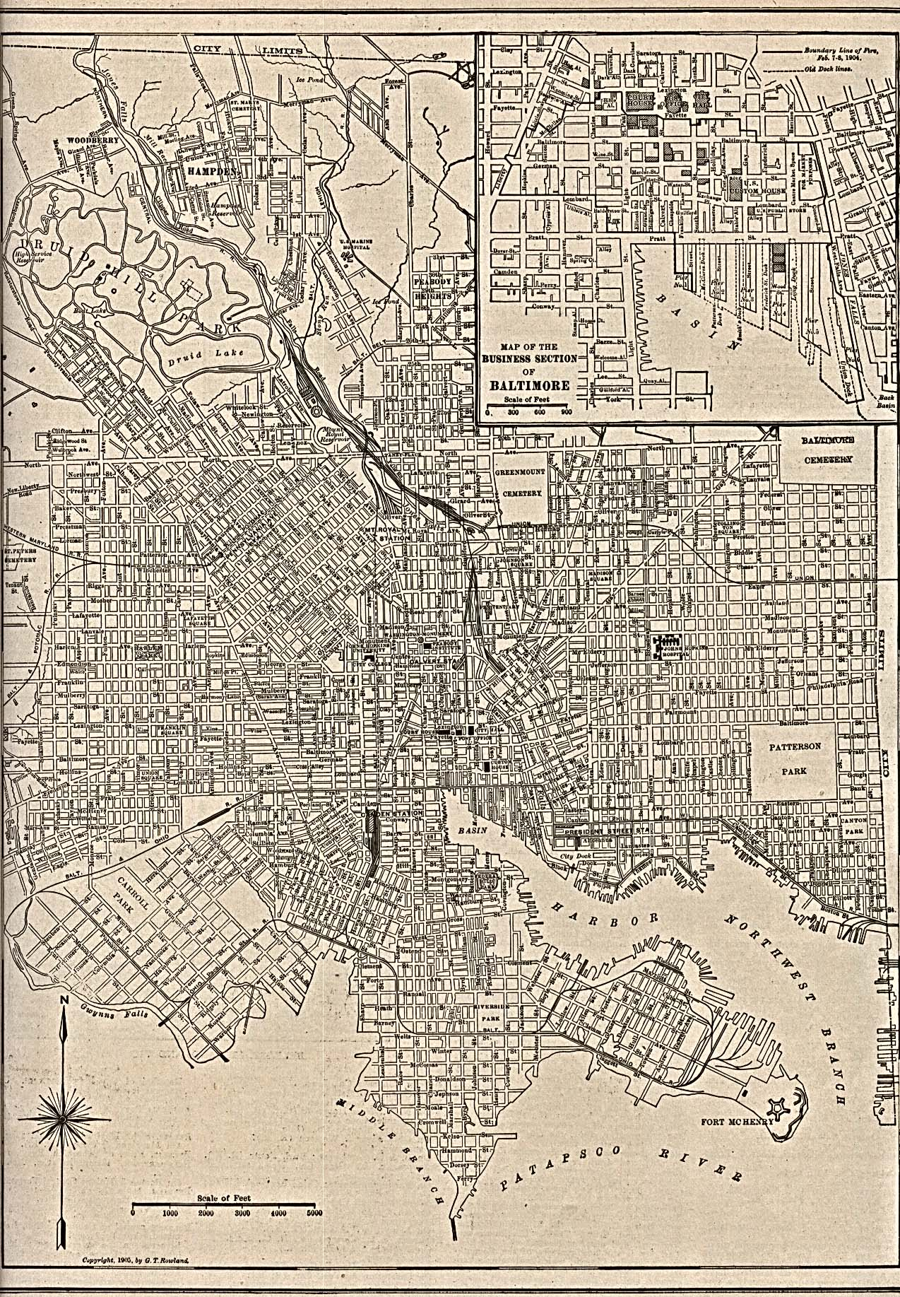 Baltimore City and County Maryland Maps and Gazetteers