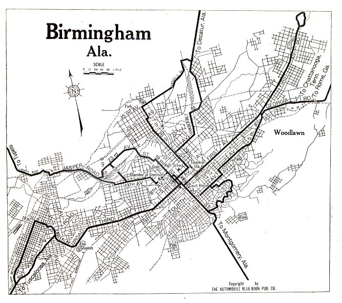 United States Historical City Maps PerryCastañeda Map - Map of alabama cities and towns