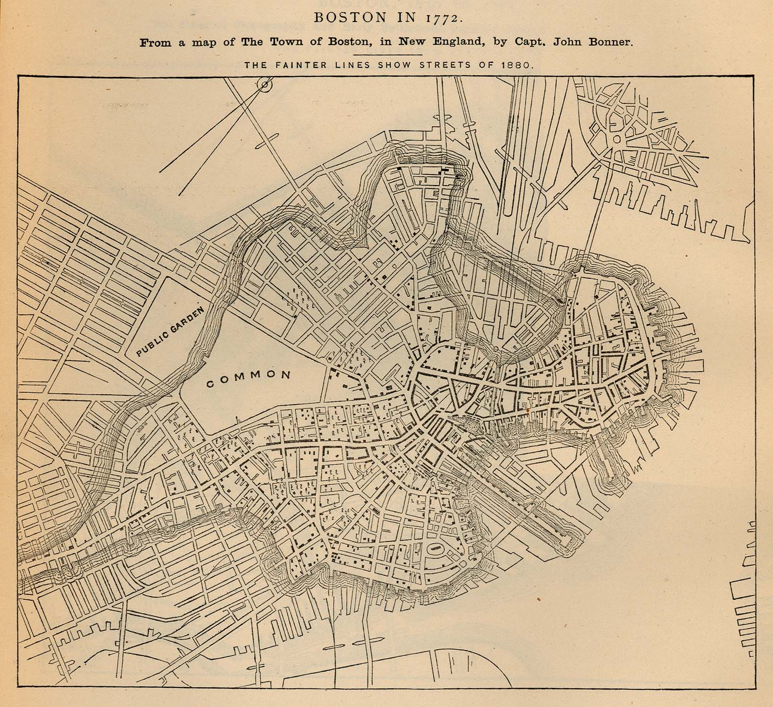 boston maps atlases and city (streets) directories » bu  - (k) boston massachusetts  ""