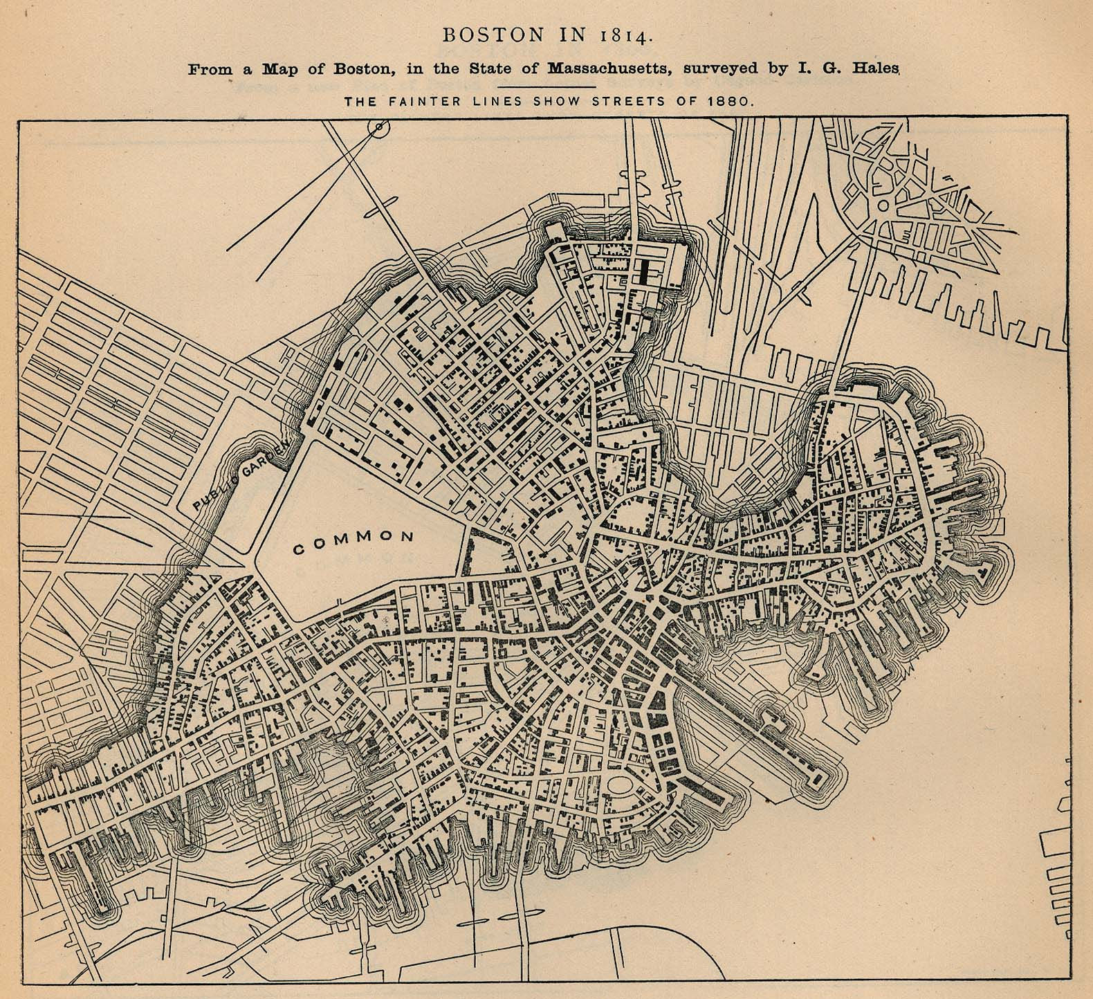 Boston maps atlases and city streets directories bu libraries 491k boston massachusetts 1814 malvernweather Choice Image