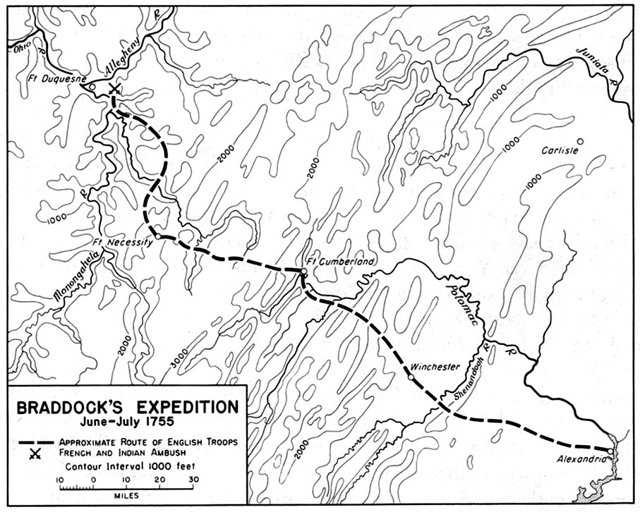 1755 Braddock S Expedition June July 1755