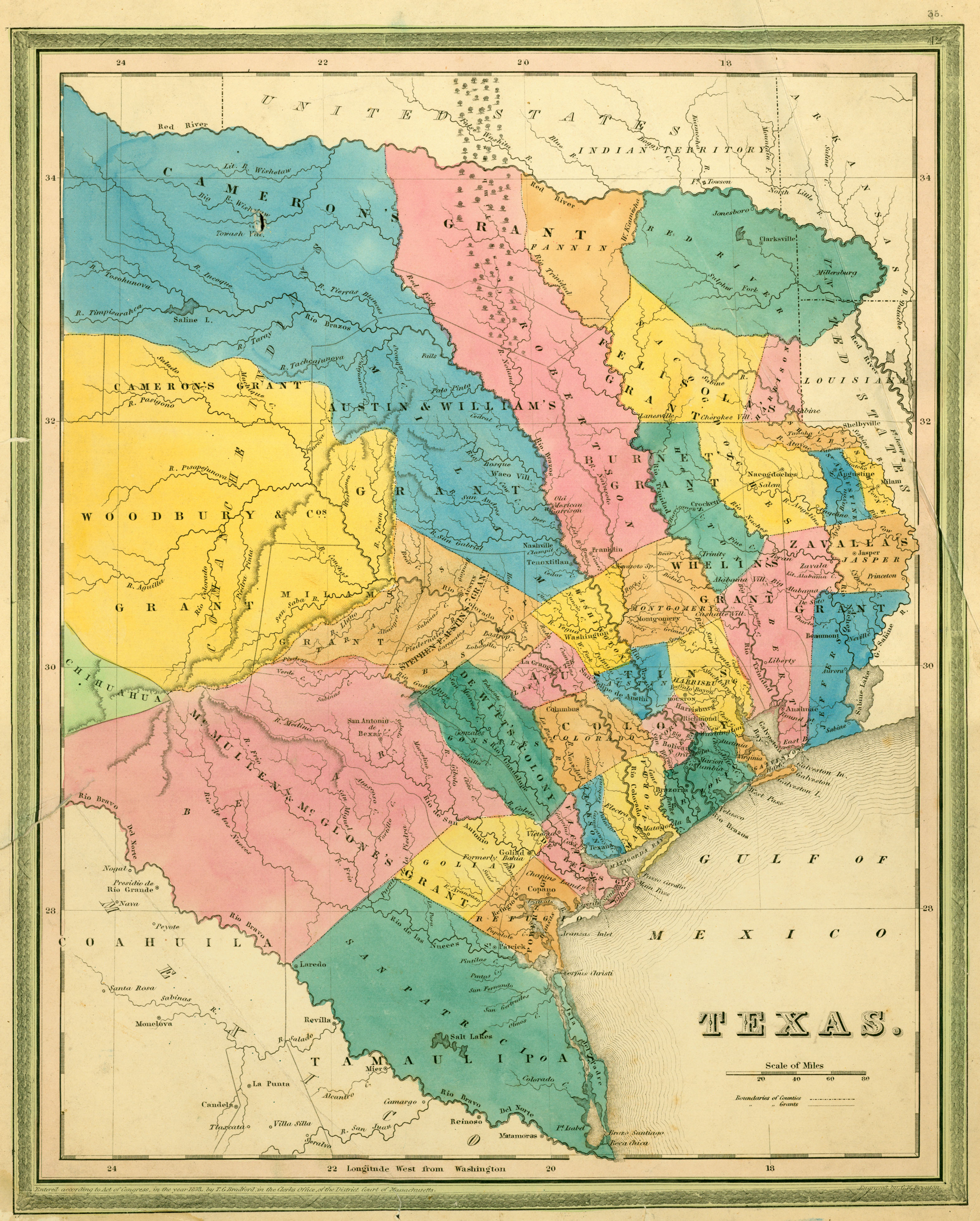 Texas Historical Maps PerryCastañeda Map Collection UT - Trxas map