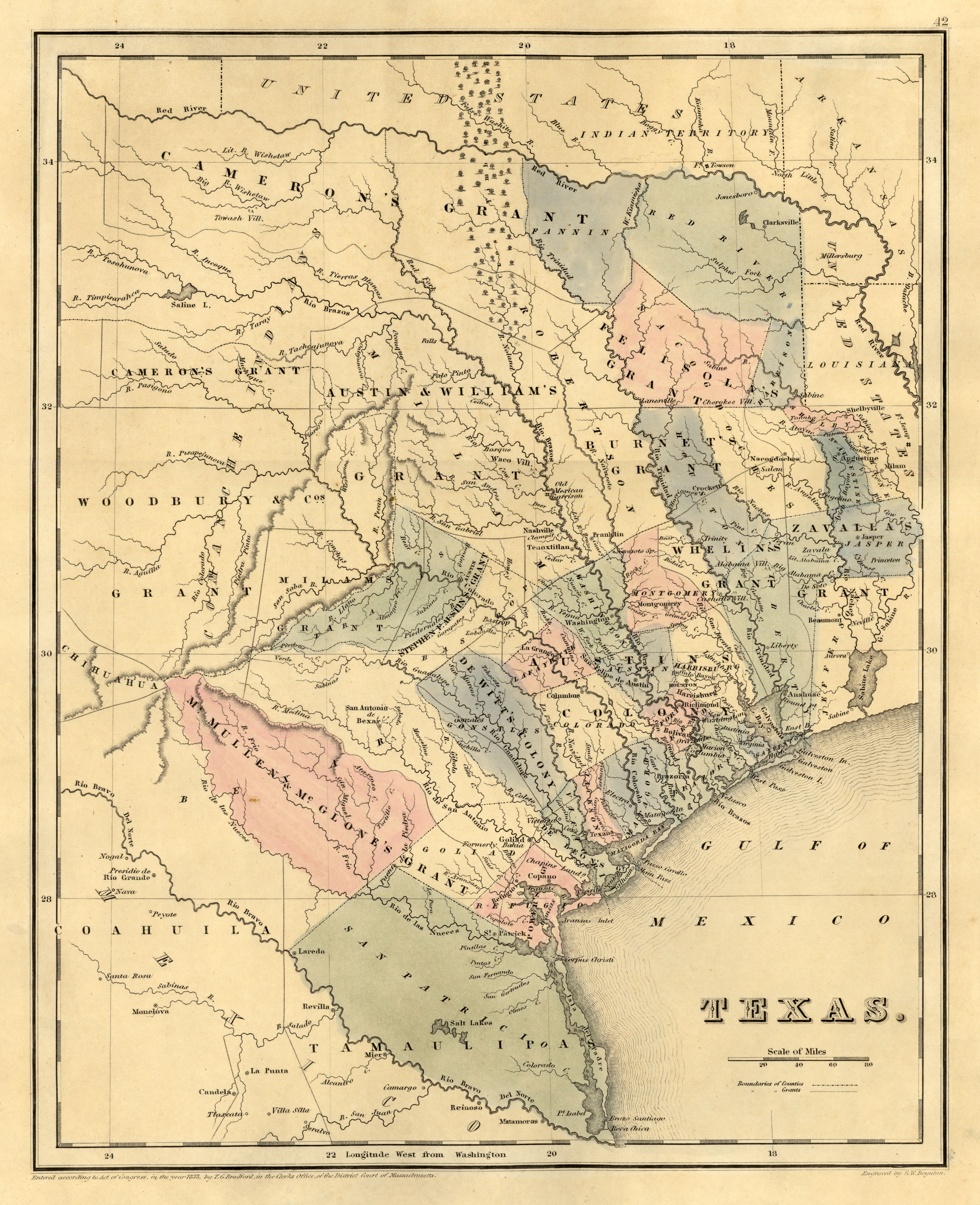 Texas Historical Maps PerryCastañeda Map Collection UT - Map of us railroads in 1850