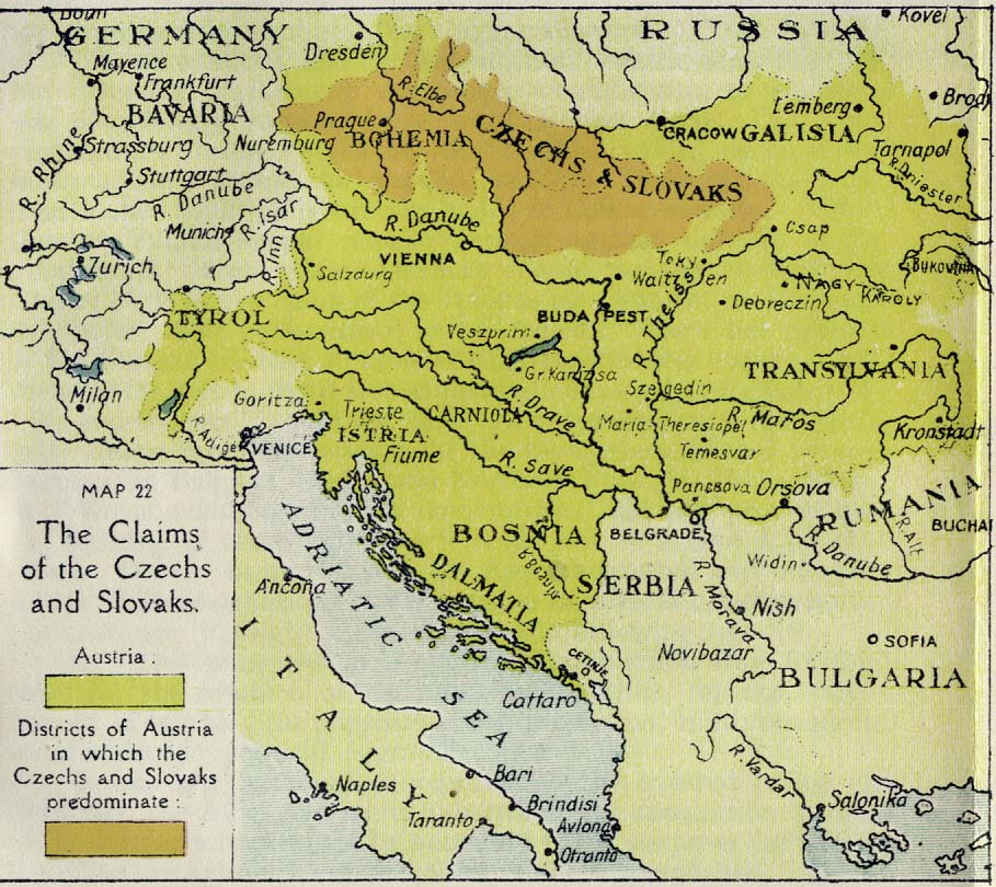 160 The Claims Of The Czechs And Slovaks