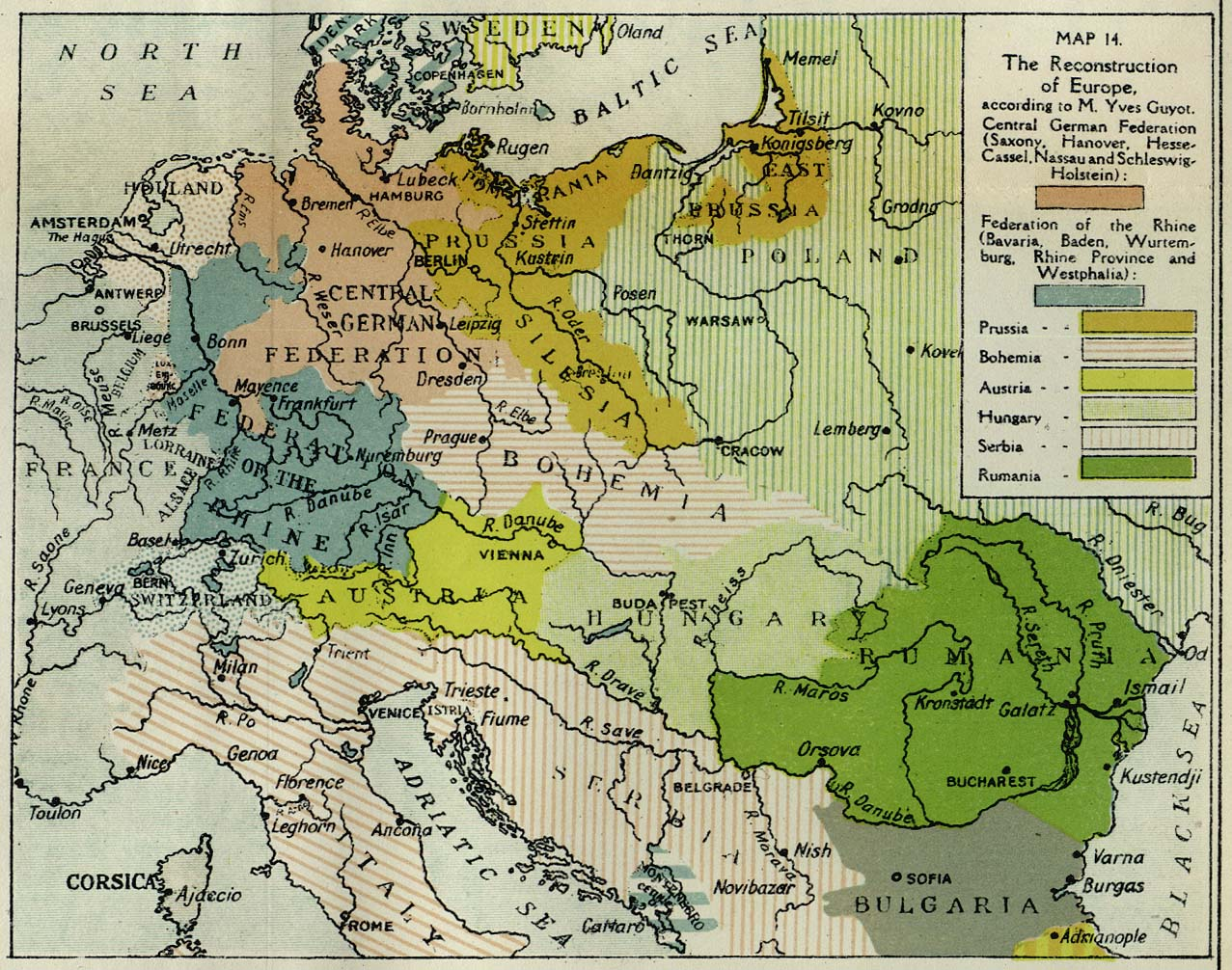 Map Of Europe In 1918