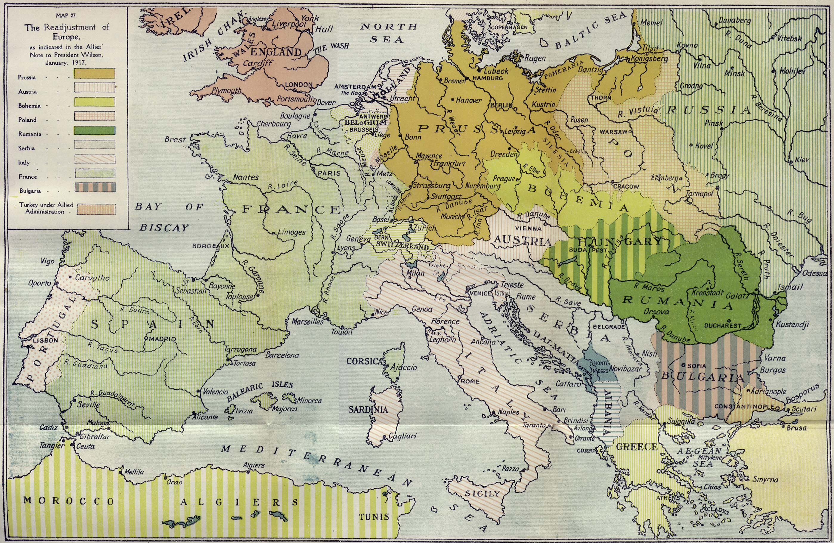 map of europe 1917 dominions year book