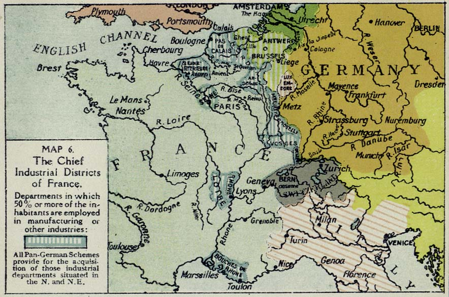 Districts Of France Map.British Dominions Year Book 1918 Perry Castaneda Map Collection
