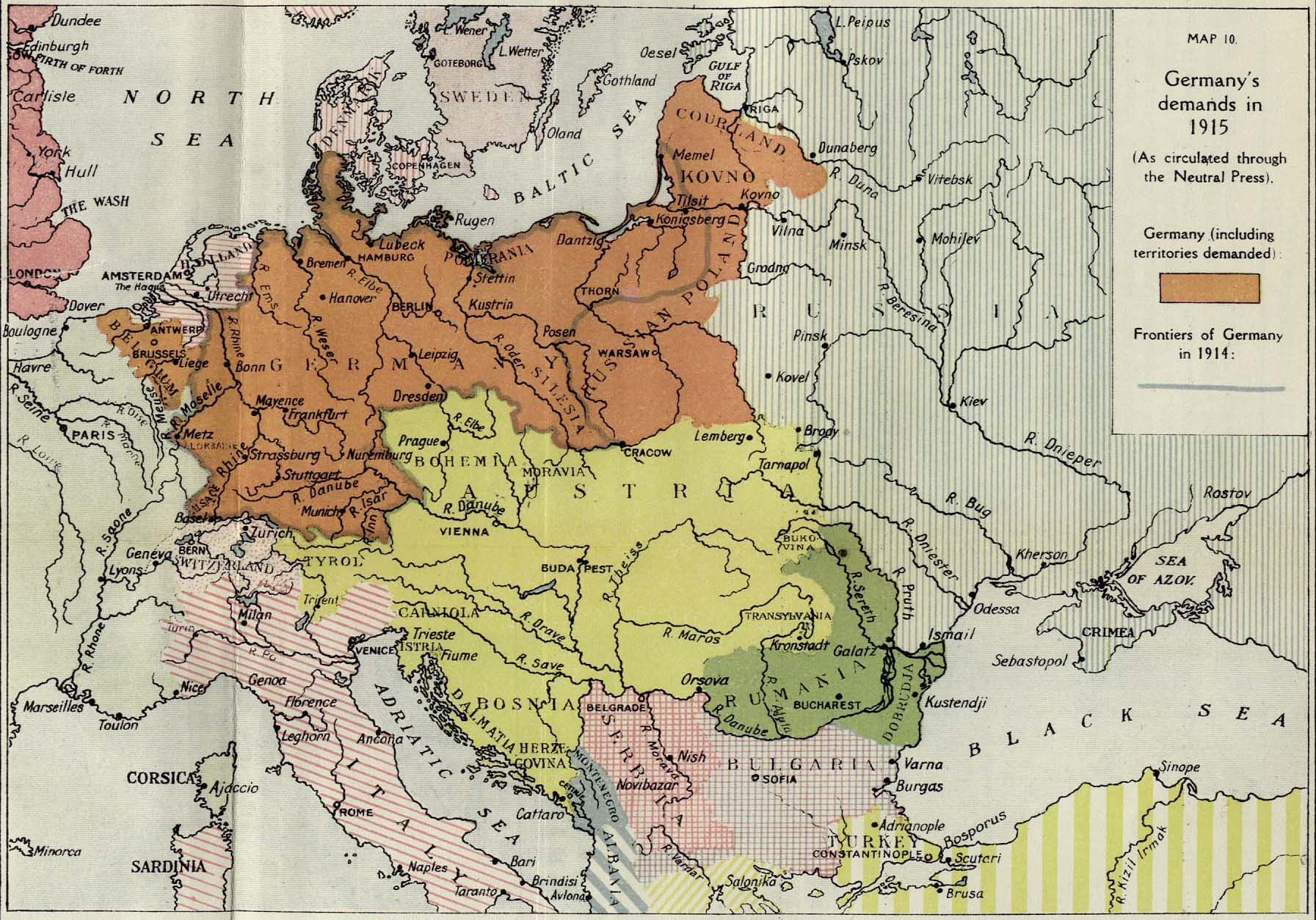 Map Of Germany In 1918.British Dominions Year Book 1918 Perry Castaneda Map Collection
