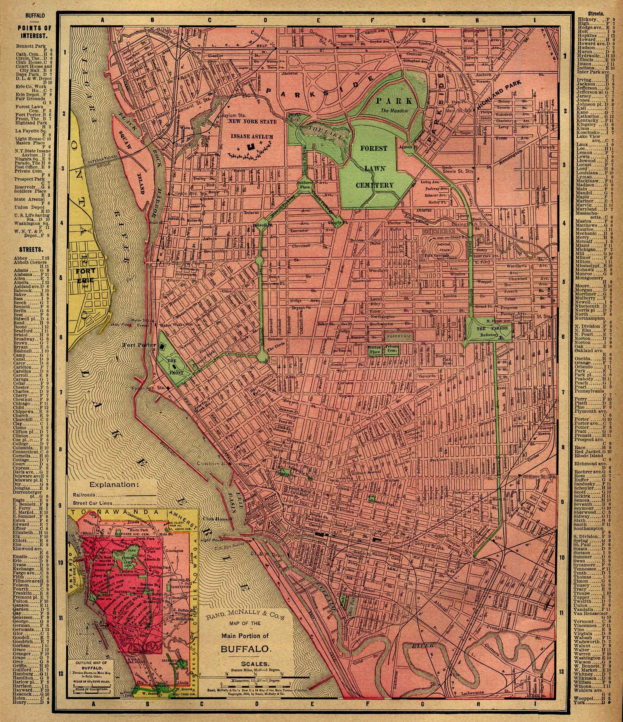New York Map 1800.Buffaloresearch Com Historic Maps Of Buffalo Erie