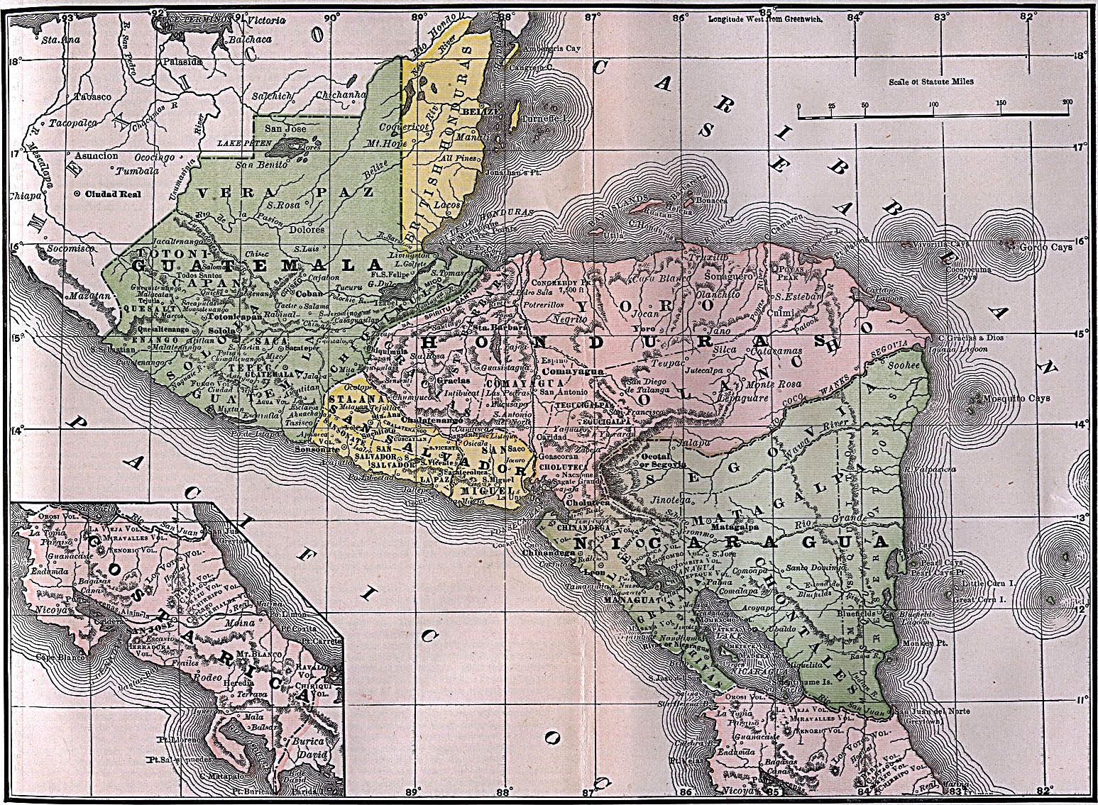 Old Central America Map Mapophilia Pinterest America - Old maps of america