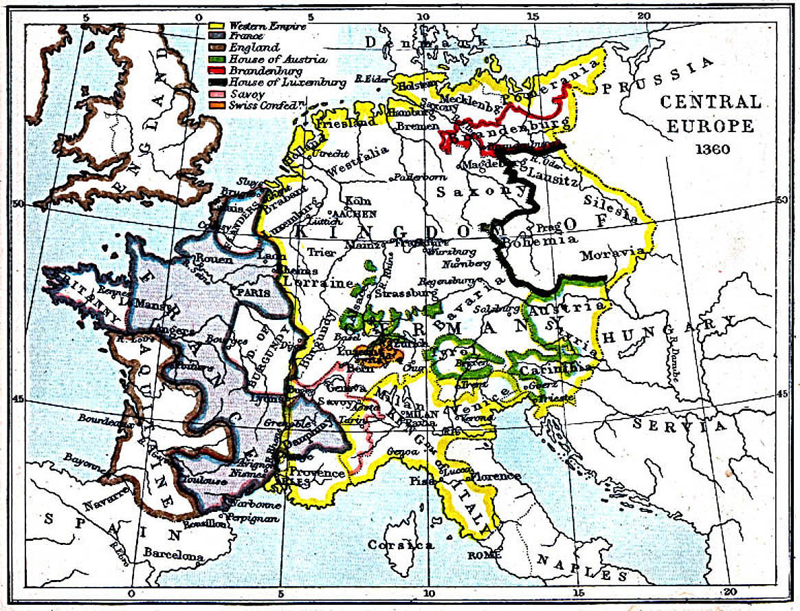 Maps Of Central Europe 980 A D 1871 A D Perry Castaneda Map Collection Ut Library Online