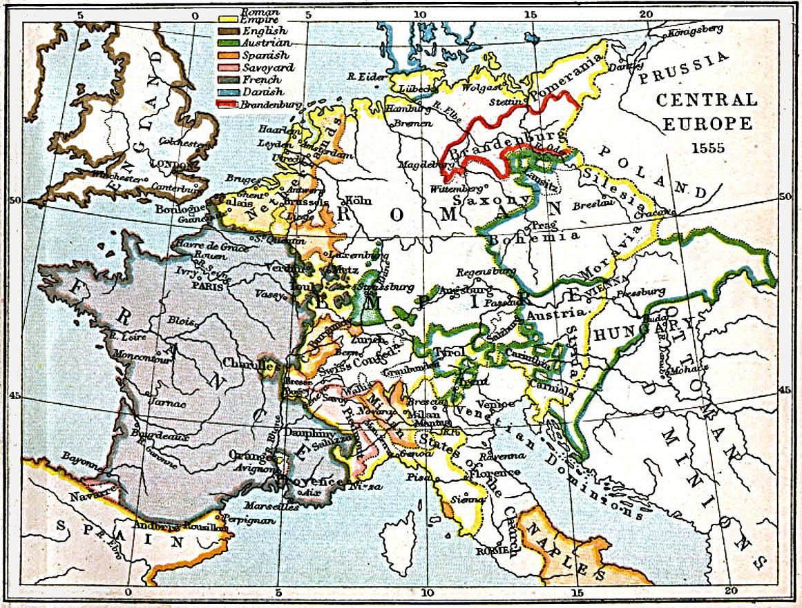 Map Of Europe In 1871.Historical Maps