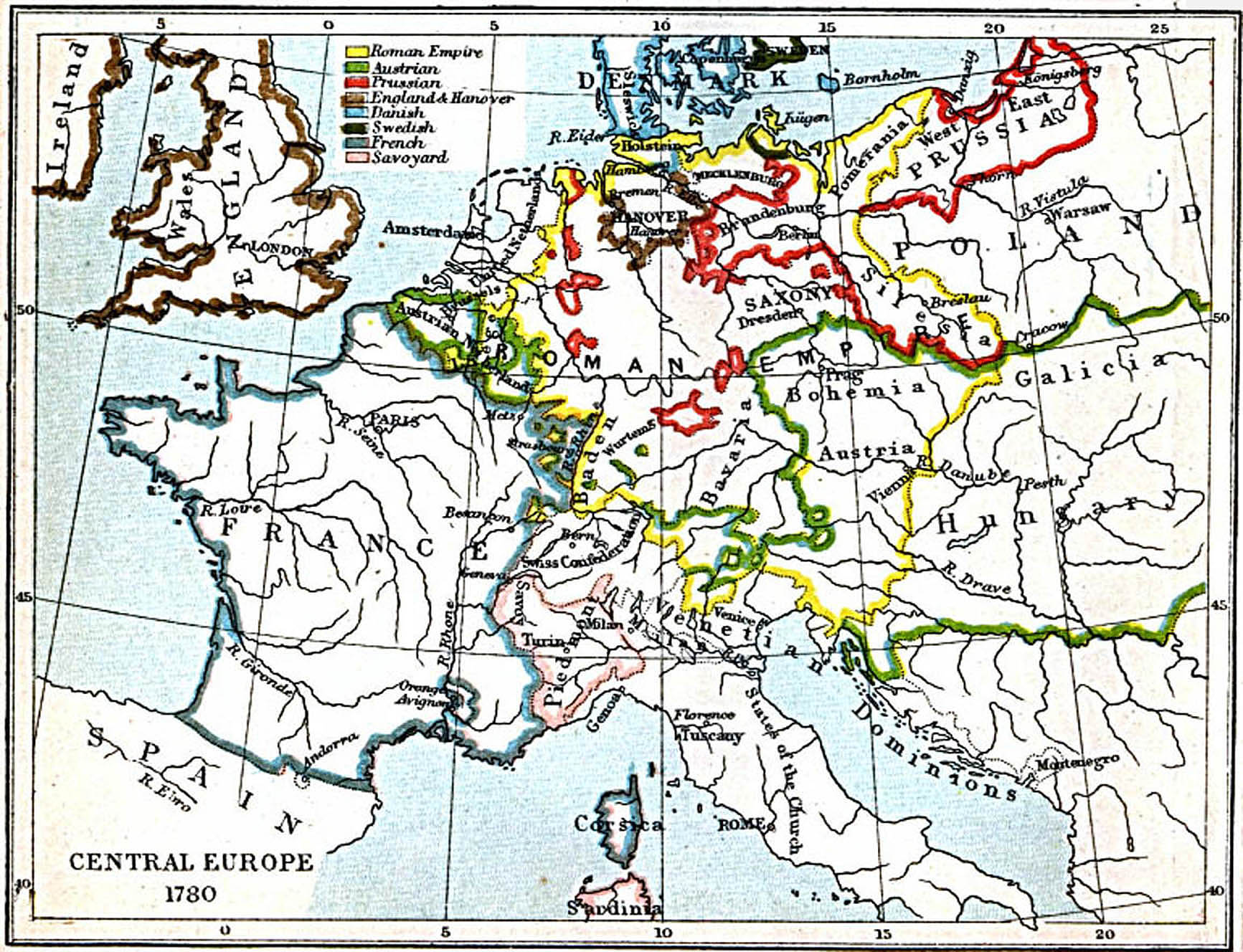 Maps of Central Europe 980 A.D. - 1871 A.D. - Perry-Castañeda Map ...