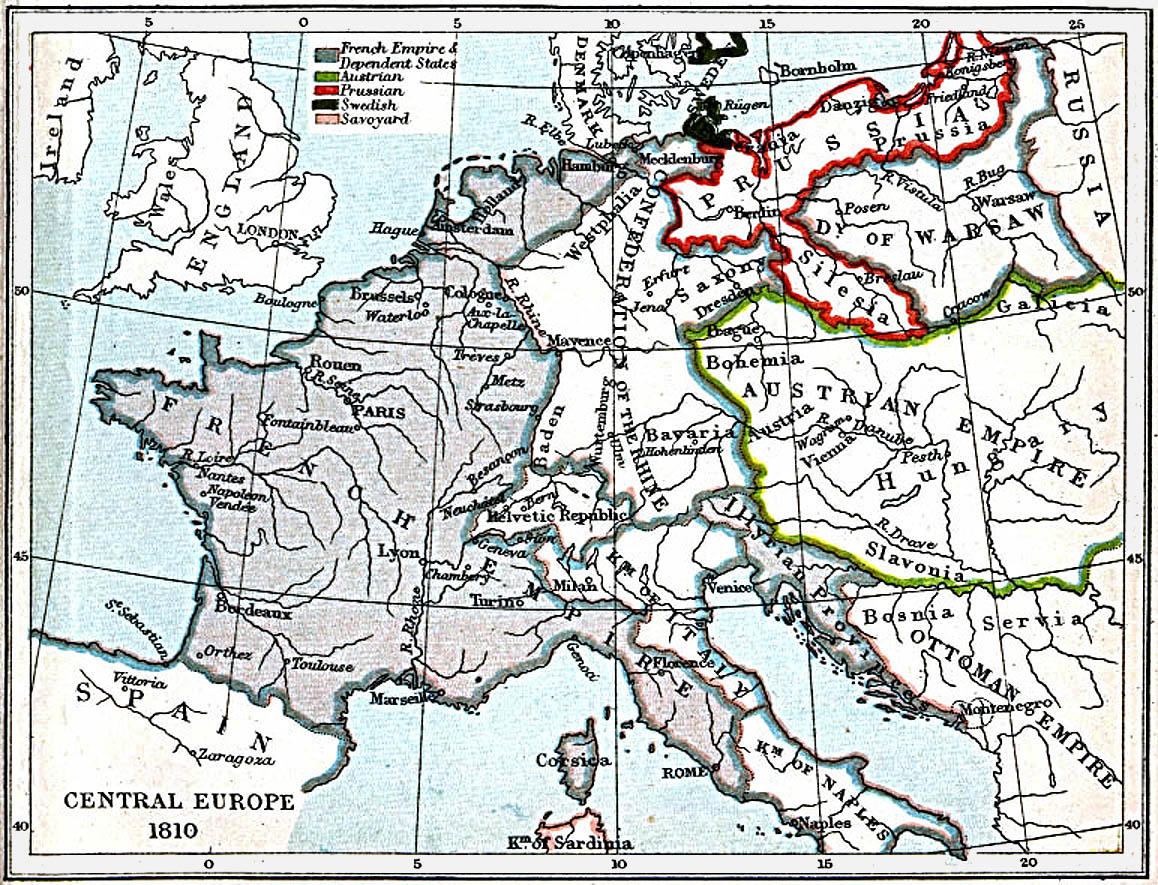 Map Of Europe 1780.Maps Of Central Europe 980 A D 1871 A D Perry Castaneda Map