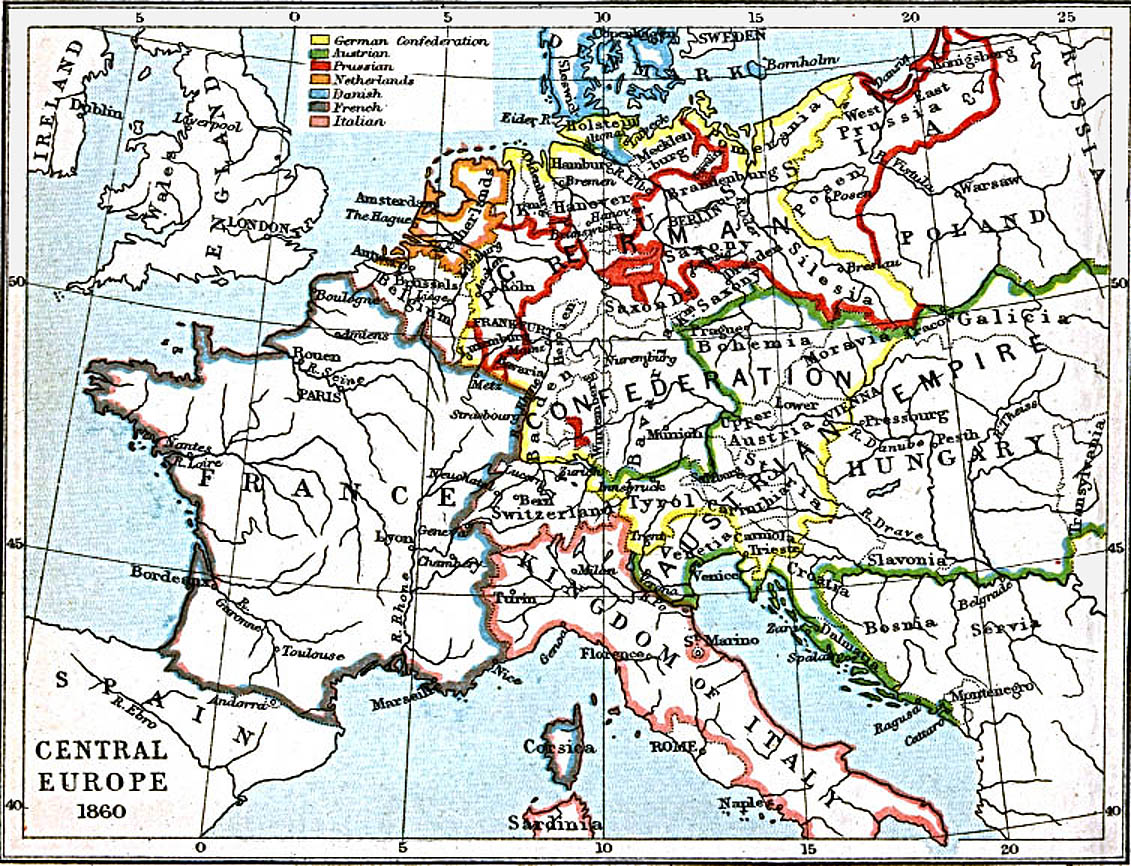 central europe 1860 ad