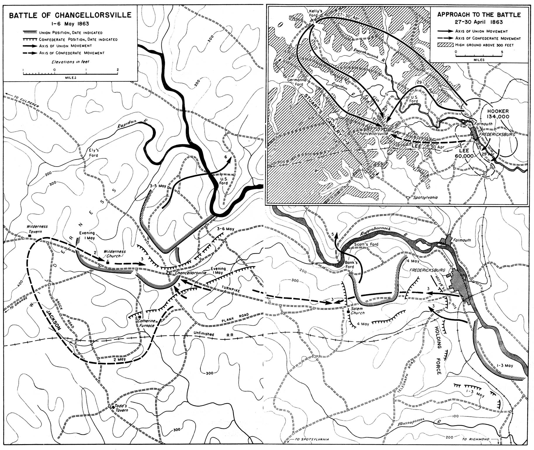 Maps  Battle Studies Chancellorsville  Research Guides Home at
