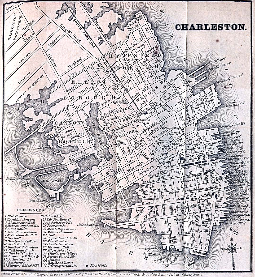 Historical Maps of U.S Cities. Charleston, South Carolina 1849 Appletons' Hand-Book of American Travel. New York: D. Appleton and Company. 1869 (629K)