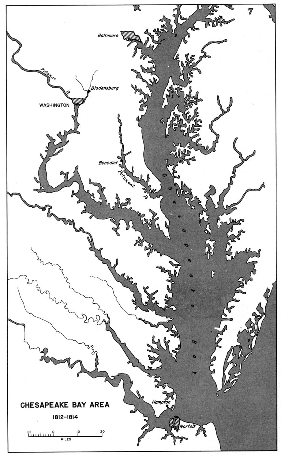 Chesapeake Bay Topographic Map.1up Travel Historical Maps Of United States 1812 1814 Chesapeake