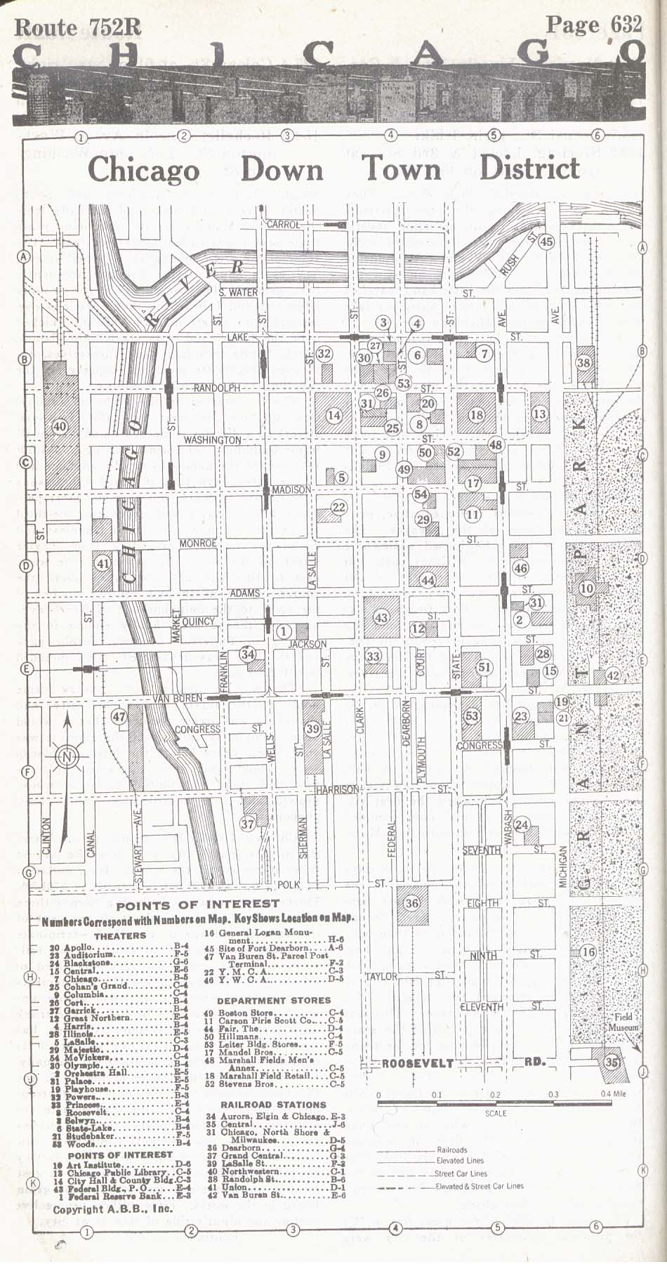 United States Historical City Maps PerryCasta eda Map – Downtown Chicago Tourist Map